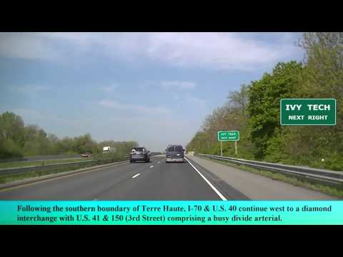 Driving I-70 to Terre Haute Indiana