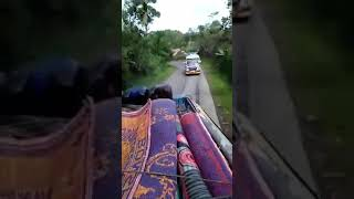 Touring Bus Selamat Jalan Di Kaki Gunung Sinabung