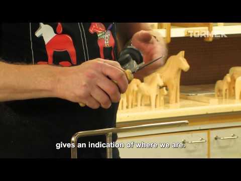 Tormek visit Dala horse making factory in Nusnäs, Sweden