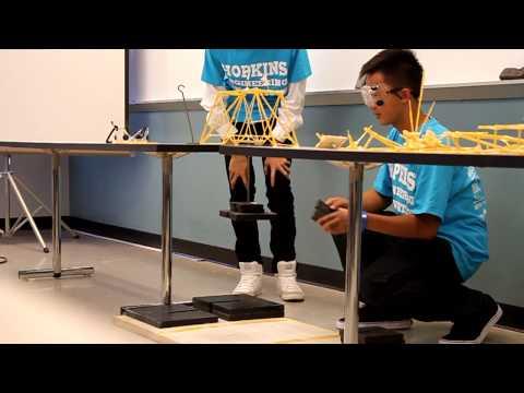 Johns Hopkins Engineering Innovation Bridge Breaking 2010 CSUF (Group C)