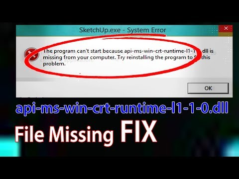Fix For Api-ms-win-crt-runtime-l1-1-0.dll Missing Error 2017