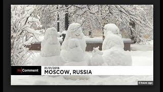 Россия Сегодня : cнегопад в Москве / Snowfall in Moscow