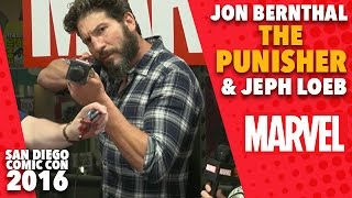 Jon Bernthal the Punisher and Jeph Loeb on Marvel LIVE! At San Diego Comic-Con 2016
