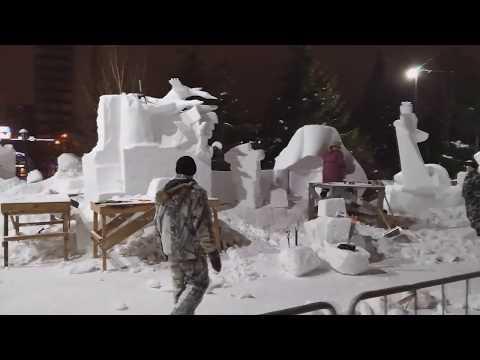 Cнежные Cкульптуры. Первомайский сквер. Новосибирск