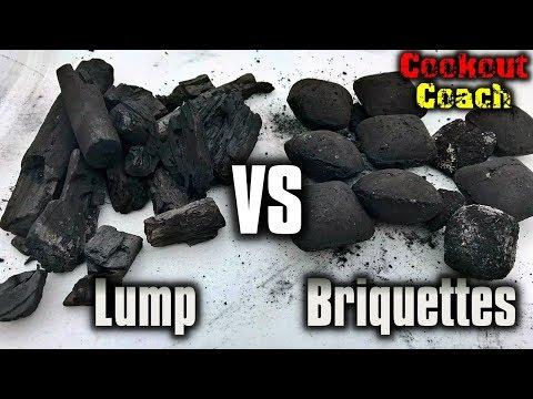 Lump Charcoal VS.  Charcoal Briquettes