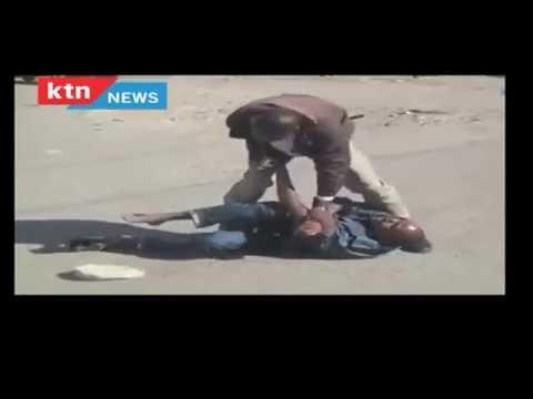 WARNING [DISTURBING VIDEO] - Kenya Police Service officer disarms a heavily armed suspect