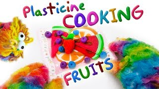 Plasticine Cooking For Kids : Orange, Watermelon, Blueberry. (First recipes) 2019