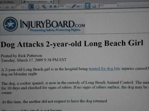 Dog attacks 2 yr old Long Beach girl