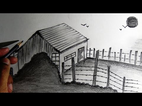 How To Draw Scenery For Drawing Competition - For Kids