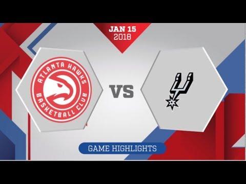 San Antonio Spurs vs Atlanta Hawks: January 15, 2018