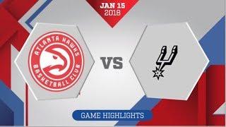 Video San Antonio Spurs vs Atlanta Hawks: January 15, 2018 download MP3, 3GP, MP4, WEBM, AVI, FLV Januari 2018