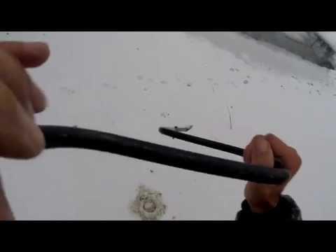 Ледобур для зимней рыбалки,ложка,видео rybachil.ru