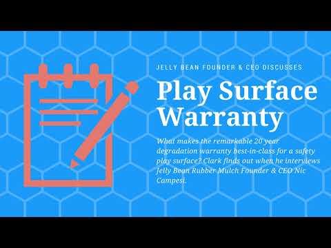 Warranty - Jelly Bean Playground Rubber Flooring