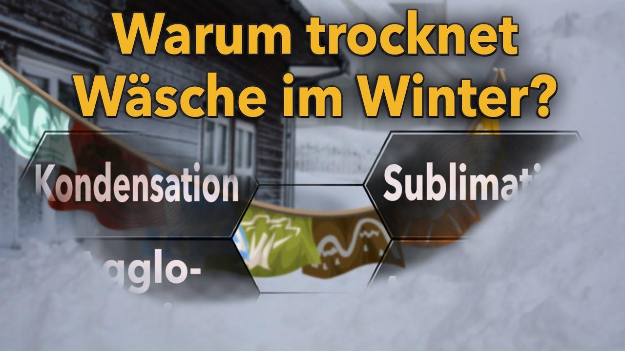 Warum trocknet Wäsche im Winter? Prinzip Sublimation - Marcos ...