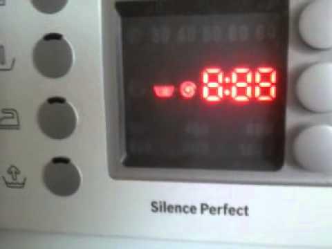 сброс ошибок на стиральной машине бош