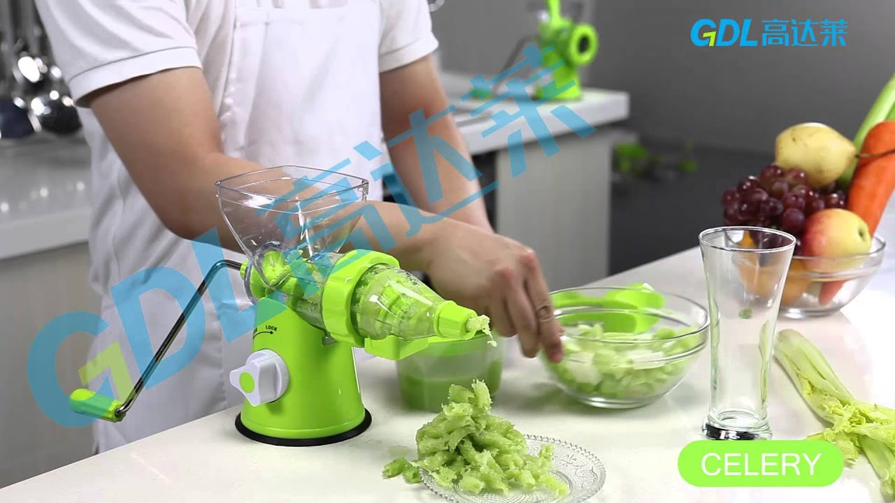 Hand Operated Slow Juicer : Hand Juicer & Multi Grinder - YouTube