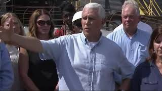 Pence Tours Georgia Towns Hit By Hurricane Michael