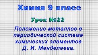 Химия 9 класс (Урок№22 -Положение металлов в периодической системе химических элементов Менделеева.)