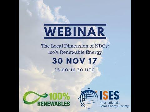 Webinar: The Local Dimension of the NDCs: 100  Renewable Energy