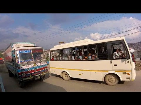 Crazy Nepal Bus Journey From Pokhara to Kathmandu