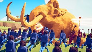 SUPER GOLDEN MAMMOTH vs HALFLING ARMY - TABS 2019 Early Access Gameplay Part 4 | Pungence