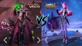 Mobile legends vs Arena of valor! Mobile legends vs Moba games