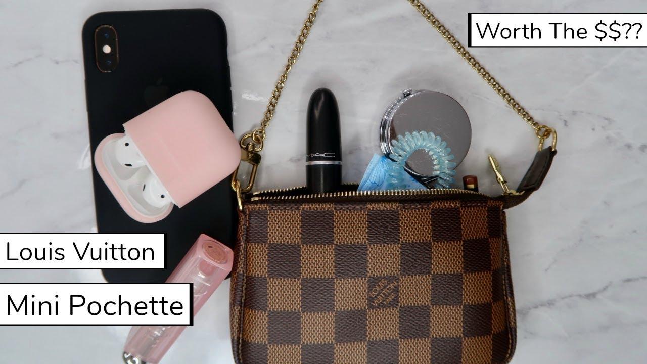 livraison gratuite deb30 003c8 Louis Vuitton Mini Pochette | What's In My Bag? & Review
