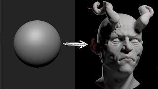 Zbrush Head Sculpt 23 - Demon Prince