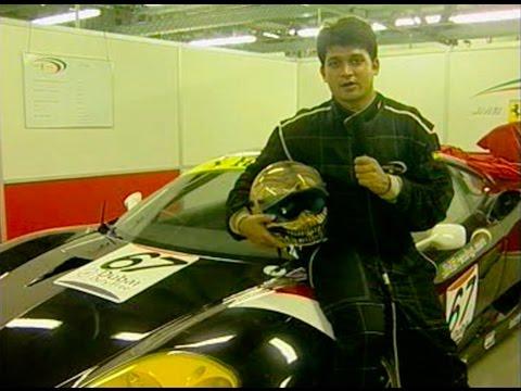 India's first F1 driver Narain Karthikeyan at A1 in Dubai, UAE