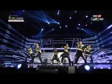 140212 EXO - Wolf + GROWL Live, 3rd Gaon Chart Kpop Award 2014 [HD]