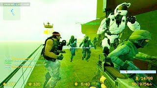 Counter Strike Source - Zombie Escape Nemesis Mod online gameplay on Solstice Redux Map
