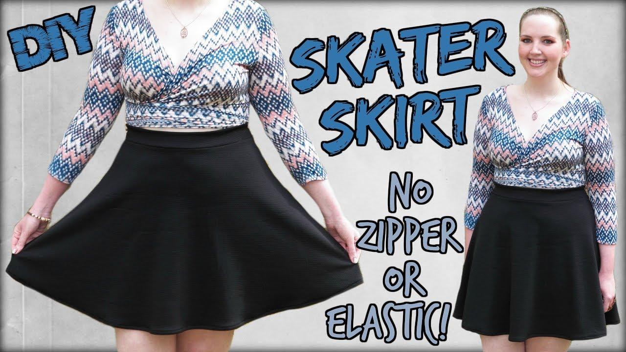 f344ca682c How to Make a Skater Skirt EASY!