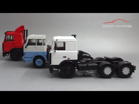 Дальнобойщики: масштабные модели седельных тягачей - Автоистория Vs Наш Автопром Vs IXO Models
