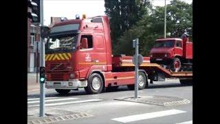 [Pompiers de Dunkerque] Semi-remorque plateau et anciens véhicules SDIS 59 (juillet 2013)