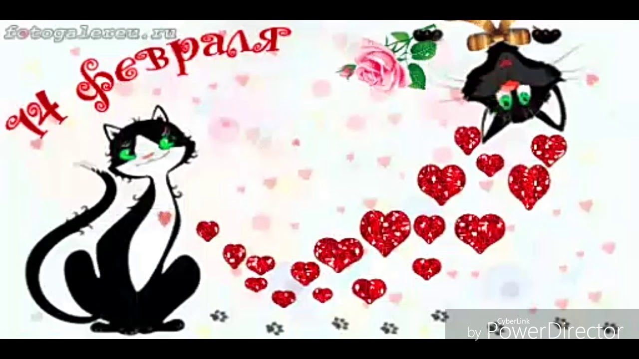 Картинка с днем влюбленных прикольная гиф, праздник старые открытки