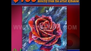 Only $150 Buy this original oil painting RED ROSE directly from the artist Rybakow!(Buy this original palette knife oil painting on canvas RED ROSE directly from the artist Rybakow! Free shipping! You can buy oil painting RED ROSE from artist ..., 2014-08-04T12:56:56.000Z)