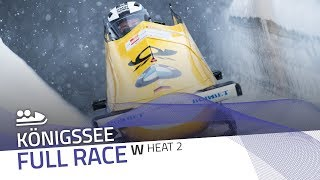 KÖnigssee | BMW IBSF World Cup 2018/2019 - Women's Bobsleigh Heat 2 | IBSF Official