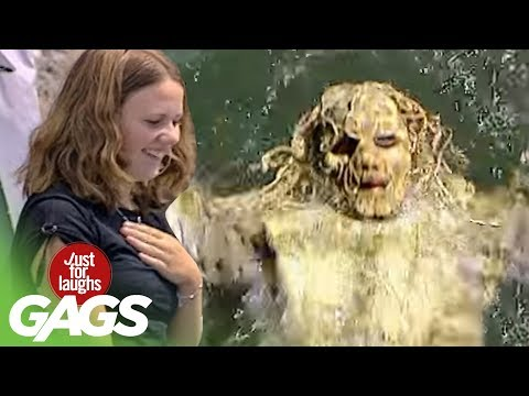 Water Monster Terrorizes Lake - Just For Laughs Gags