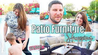 VLOG 2 | Patio Furniture Shopping | New House Shop With Me + Spend the Day With Us || Kyle & Amanda