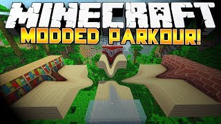 Minecraft: EPIC MODDED PARKOUR! w/Preston, Bodil & Vikstar