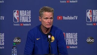Steve Kerr Full Interview - Game 1 Preview | 2019 NBA Finals Media Availability