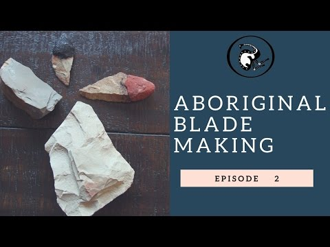 Aboriginal blade making with Traditional Resin handle