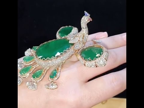 Peacock Ring | New Fashion Jewellery | Musa Khattak Cad Cam Jewellery Designer | Dubai Style Fashion