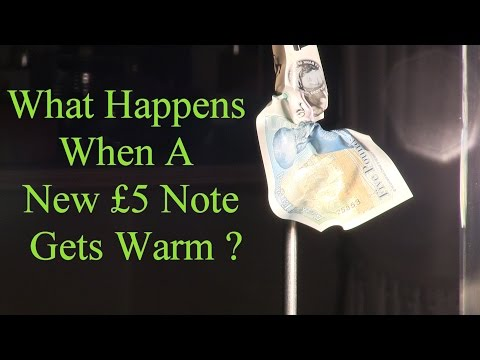 What Happens When A New £5 Note Gets Warm ?