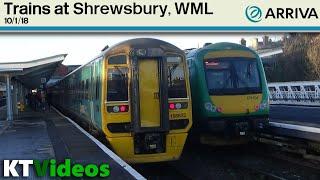 Trains at Shrewsbury, WML - 10/1/18