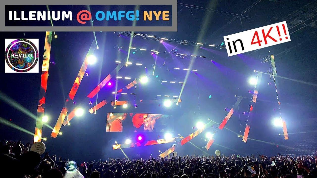 ILLENIUM at OMFG! 12-30-2018 NYEE Full Set Highlights Recorded in 4K @60FPS