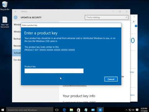 How To Activate Your Windows 10 Product Key🔑 - YouTube