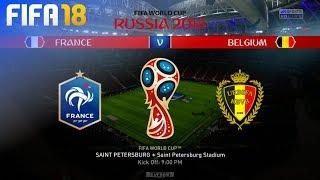 FIFA 18 World Cup - France vs. Belgium @ Saint Petersburg Stadium