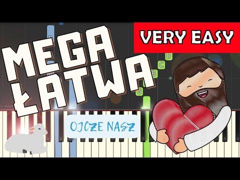 🎹 Ojcze Nasz (modlitwa) - Piano Tutorial (MEGA ŁATWA wersja) 🎹