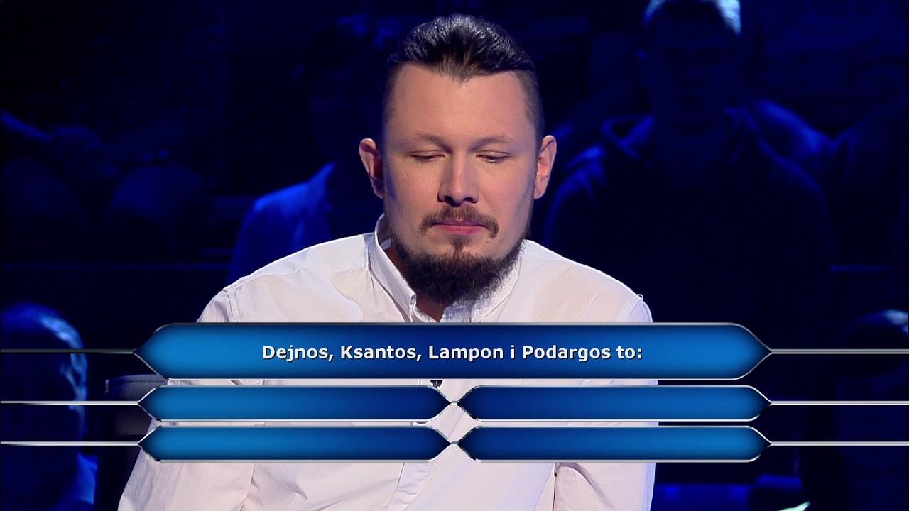 """A czy ty znałbyś odpowiedź na to pytanie? Oglądaj """"Milionerów"""" poniedziałek-czwartek o 20:55 w TVN!"""